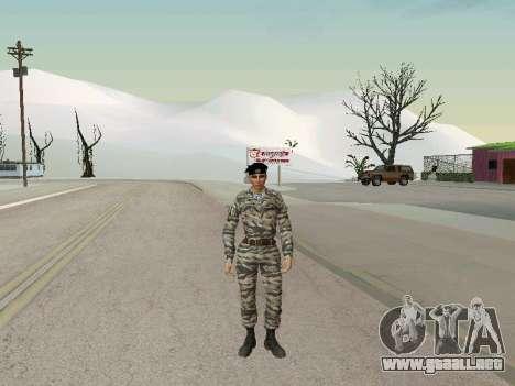 Kira Lebedev para GTA San Andreas sucesivamente de pantalla