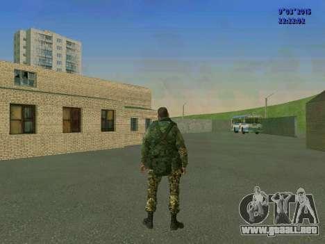 Un luchador de Esparta batallón para GTA San Andreas sucesivamente de pantalla