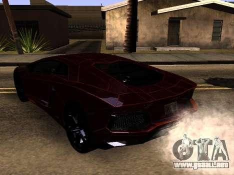 Lamborghini Aventador Tron para GTA San Andreas vista posterior izquierda