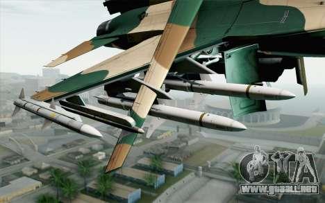 F-16C Fighting Falcon Aggressor 272 para la visión correcta GTA San Andreas
