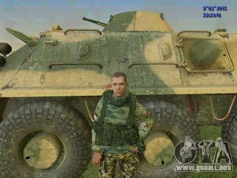 Un luchador de Esparta batallón para GTA San Andreas quinta pantalla