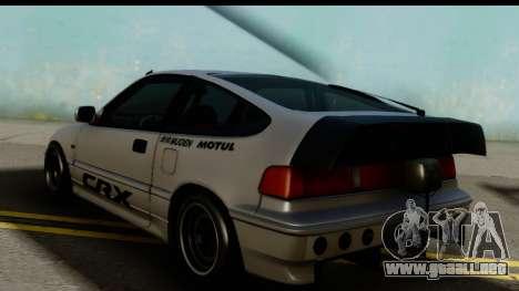 Honda CRX Dragster para GTA San Andreas left