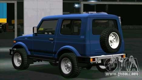 Suzuki Samurai para GTA San Andreas vista posterior izquierda