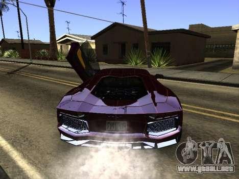 Lamborghini Aventador Tron para la visión correcta GTA San Andreas