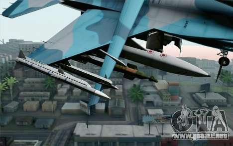 F-16C Fighting Falcon NSAWC Blue para la visión correcta GTA San Andreas