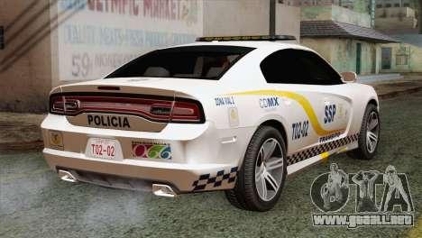 Dodge Charger SXT Premium 2014 para GTA San Andreas left