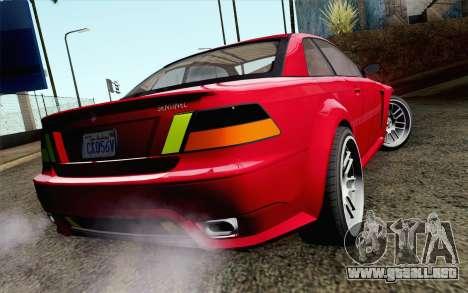 GTA 5 Ubermacht Sentinel Coupe IVF para GTA San Andreas left