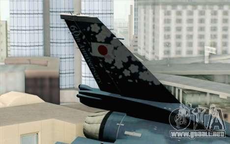 F-2A Viper 60th Anniversary of JASDF para GTA San Andreas vista posterior izquierda