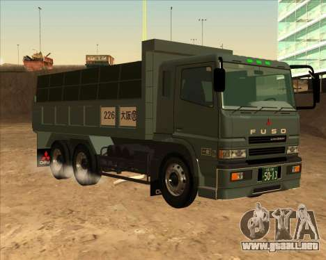Mitsubishi Fuso Super Great Dump Truck para GTA San Andreas