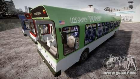 GTA 5 Bus v2 para GTA 4 ruedas