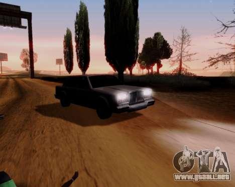 ENB Series for Low PC para GTA San Andreas sucesivamente de pantalla