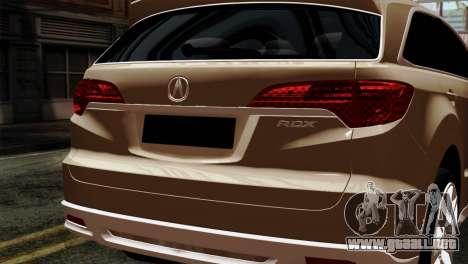 Acura MDX 2009 para la visión correcta GTA San Andreas