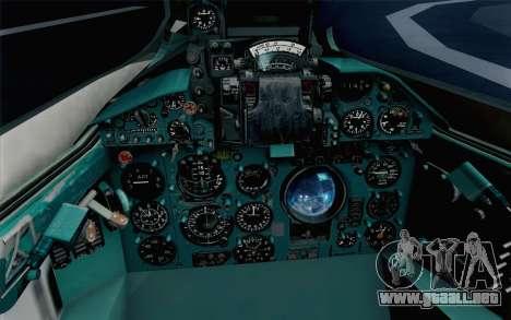 MIG-21 Fishbed C Vietnam Air Force para GTA San Andreas vista hacia atrás