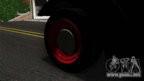 GTA 5 Bravado Rat-Truck SA Mobile para GTA San Andreas vista posterior izquierda
