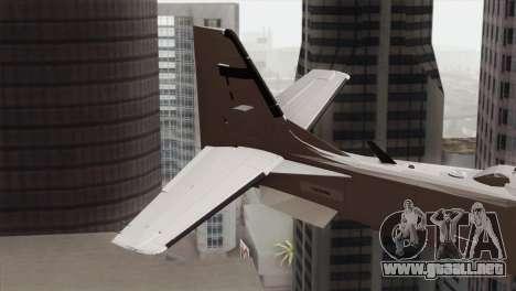 Embraer A-29B Super Tucano Low Visibility para GTA San Andreas vista posterior izquierda