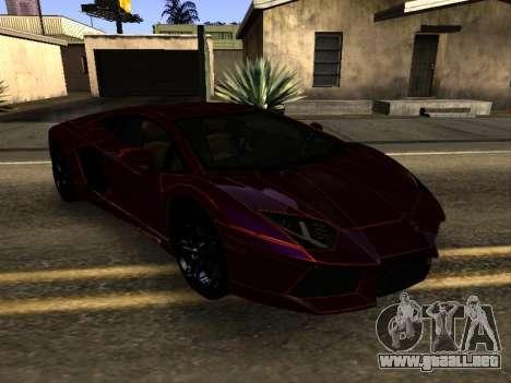 Lamborghini Aventador Tron para GTA San Andreas vista hacia atrás