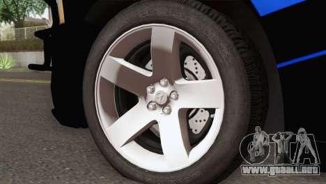 Dodge Charger 2013 LSPD para GTA San Andreas vista posterior izquierda