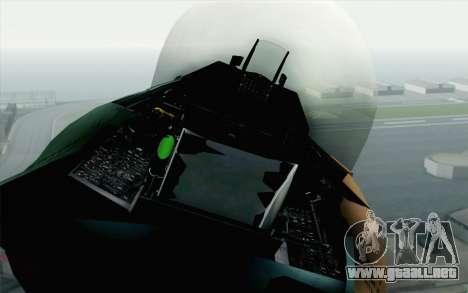 F-16C Fighting Falcon Aggressor 272 para GTA San Andreas vista hacia atrás