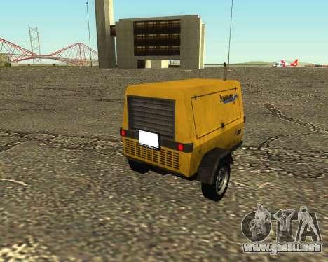 Multi Utility Trailer 3 in 1 para GTA San Andreas left