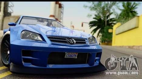 GTA 5 Benefactor Feltzer IVF para GTA San Andreas vista posterior izquierda