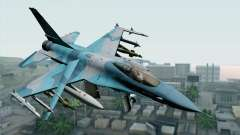 F-16C Fighting Falcon NSAWC Blue para GTA San Andreas