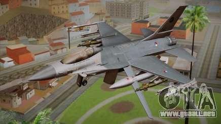 F-16 Fighting Falcon RNLAF Solo Display J-142 para GTA San Andreas