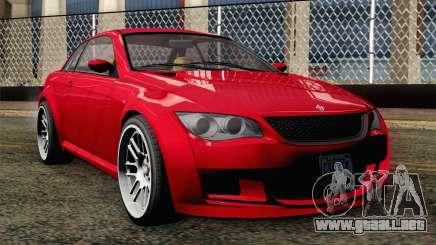 GTA 5 Ubermacht Sentinel Coupe IVF para GTA San Andreas