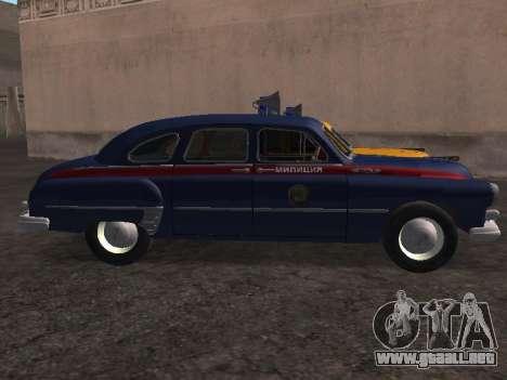 GAS -12 ZIM Soviética de la milicia para GTA San Andreas left