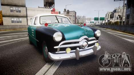 Ford Custom Deluxe Fordor 1949 New York Police para GTA 4