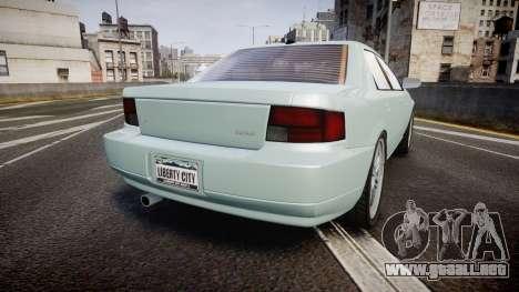 Max Payne 3 Iemanja LX para GTA 4 Vista posterior izquierda