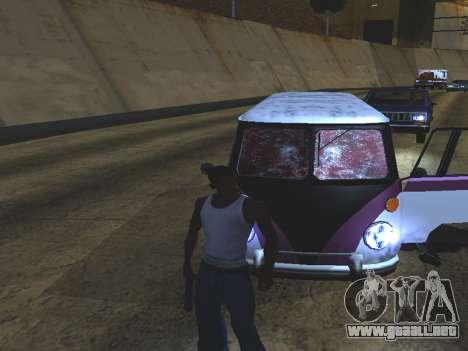 Sangre en las Ventanas de los coches para GTA San Andreas tercera pantalla