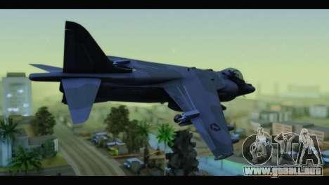 AV-8B Harrier Estovakian Air Force para GTA San Andreas left