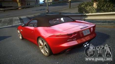 Jaguar F-Type v1.6 Release [EPM] para GTA 4 Vista posterior izquierda