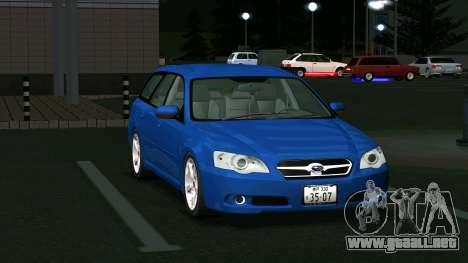 Subaru Legacy Touring Wagon 2003 para GTA San Andreas left