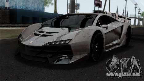 GTA 5 Pegassi Zentorno SA Style para GTA San Andreas