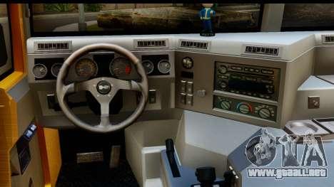 Hummer H1 6-Wheel para visión interna GTA San Andreas
