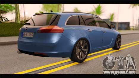 Opel Insignia Wagon para GTA San Andreas left