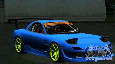 Mazda RX-7 FD3S Vertex para GTA San Andreas left