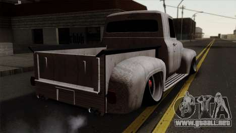 Ford F-100 1956 Stay Low para GTA San Andreas left