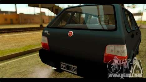 Fiat Uno Fire Mille para la visión correcta GTA San Andreas