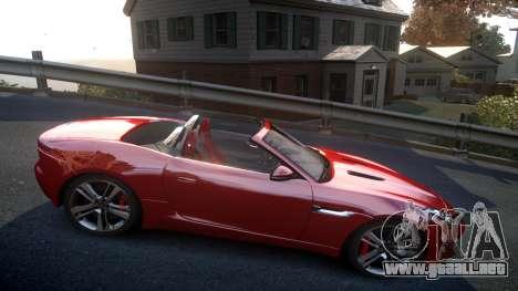 Jaguar F-Type v1.6 Release [EPM] para GTA 4 vista hacia atrás
