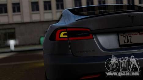 Tesla Model S 2014 para la visión correcta GTA San Andreas