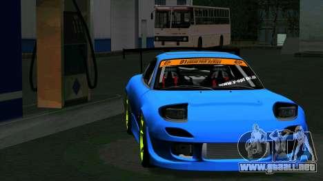 Mazda RX-7 FD3S Vertex para GTA San Andreas vista posterior izquierda