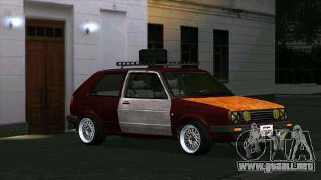 Volkswagen Golf II Rat Style para GTA San Andreas left
