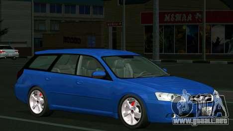 Subaru Legacy Touring Wagon 2003 para visión interna GTA San Andreas