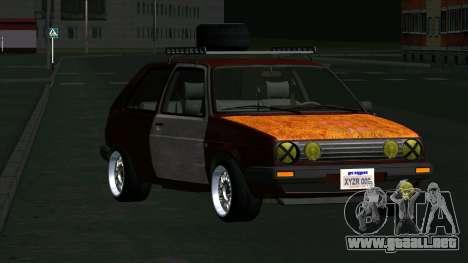 Volkswagen Golf II Rat Style para GTA San Andreas vista hacia atrás