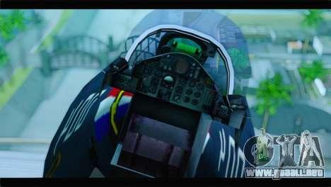 McDonnell Douglas F-4E RAF para GTA San Andreas vista hacia atrás