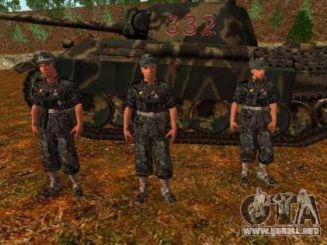 Tanque alemán comandante para GTA San Andreas segunda pantalla