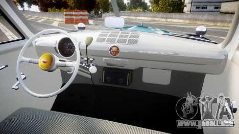 Ford Custom Deluxe Fordor 1949 New York Police para GTA 4 vista hacia atrás