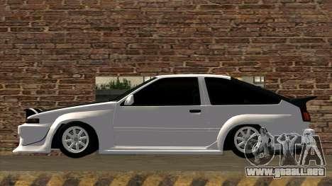 Toyota AE86 para GTA San Andreas left